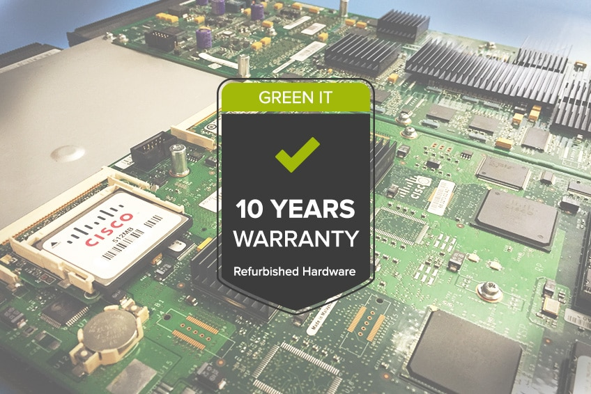 10 year guarantee on refurbished routers and switches